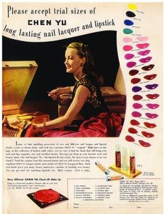 Chen Yu Lipstick & matching nail vanish range from 1952