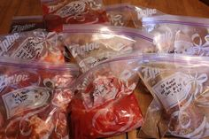 5 More Crock Pot Freezer meals! Part 3 - 1 Hour + 1 Mess = 5 Crock Pot Dinners.