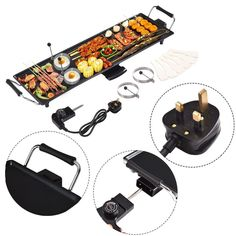 Barbeque Extra Large Grill Electric Table Top Outdoor Indoor Meat Cooking Plate