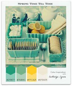 Color Palettes: Spring Time Tea Time (plus green - living room)