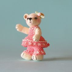 Ravelry: Cassie, A Tiny Crocheted Bear pattern by Sue Pendleton