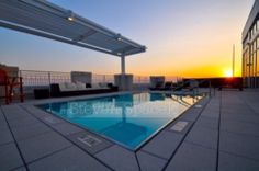 Raleigh, NC. The West Condos. Downtown Real Estate. Roof top pool is the hottest city spot for entertaining or relaxing. These condos have the best amenities.