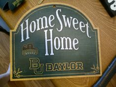 Baylor door sign