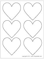 Printable heart shapes - Website has great printable patterns!