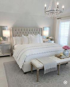 51 trendy room decor classy bedroom ideas black and white Master Bedroom Design, Home Decor Bedroom, Bedroom Designs, Glamour Bedroom, Romantic Master Bedroom, Diy Bedroom, French Bedroom Furniture, Light Master Bedroom, Bedroom Wall