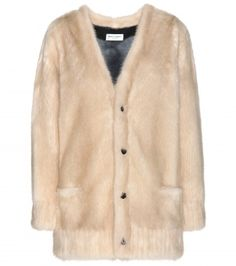 Shop now: Saint Laurent mink fur jacket // OMG this would be fabulous