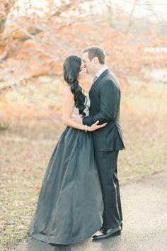 Elegant black tie engagement session: http://www.stylemepretty.com/maryland-weddings/baltimore/2016/03/17/elegant-romantic-baltimore-engagement-session/ | Photography: Elizabeth Fogarty - http://www.elizabethfogartyphotography.com/