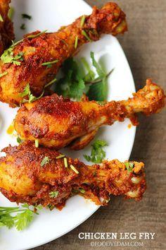 Chicken Leg Fry Spicy Leg Piece Fry Recipe Foodvedam Chicken Leg Recipes Chicken Leg Piece Recipe Fried Chicken Legs
