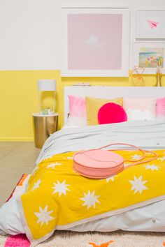 color adventures: a pink & yellow bedroom