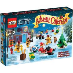 Lego City Town City Advent Calendar Play Set, Multicolor