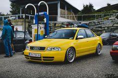 Audi S4 B5 Sedan Imola yellow