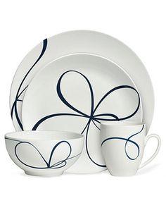 Vera Wang Wedgwood Dinnerware, Glisse 4 Piece Place Setting - Fine China - Dining & Entertaining - Macy's