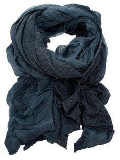 Accessories - Faliero Sarti Double Scarf - Petrol scarf from Faliero Sarti featuring a double-layer design with two different textures - cheesecloth and white grain and a rough fringed edge - Dolci Trame