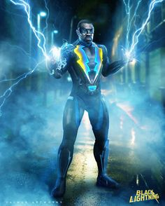 Customize your avatar with the Black Lightning Jacket. Worn by super actor Cress William as a character Black Lightning. Black Lightning Static Shock, Black Lightning Tv Show, Thunder And Lightning Storm, Superhero Tv Series, Free Poster Printables, Black Comics, Black Art Pictures, Cw Series, Black Characters
