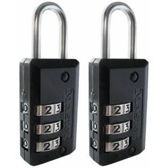Master Lock Padlock, Set Your Own Combination Lock Luggage Lock, in. Wide, (Pack of at Personal Tools for Home Lists Products - master lock 2 pack of 13 16 inch wide die cast set your own combination luggage locks steel shackle for cut resistance Backpacking Checklist, Backpacking Europe, Packing For Europe, Best Luggage, Combination Locks, Computer Bags, Digital Wall, Buyers Guide, Packing Light