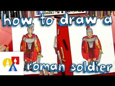 Video tutorial to draw a Roman soldier