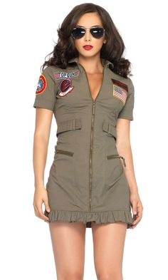 ForPlay: Shop Sexy Costume for Halloween Sexy Cop Costume - Top Gun Flight Dress Sexy Cop Costume, Costume Dress, Army Halloween Costumes, Pilot Costumes, Halloween Ideas, Haunted Halloween, Halloween Projects, Halloween Kostüm, Outfits