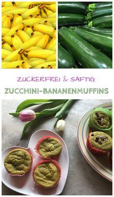 Zuckerfrei backen: Zucchini-Bananen-Muffins