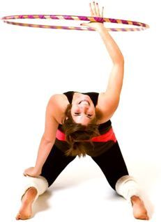 Aspiring to be able to do this without hurting myself.  Start with a very small hoop and work your way up.T.
