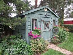 Garden shed ideas of all sizes, styles, and costs. Including artist and writer sheds, gardening sheds, workshops, and small barns.