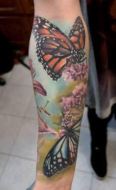 tatuagem realista de borboleta - Pesquisa Google