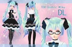 TDA Gothic Miku DL by Angie-Doll.deviantart.com on @DeviantArt