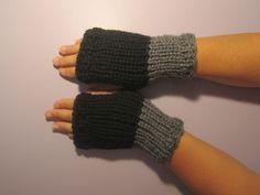 Black and Grey or Pick Colors Fingerless Gloves - Grey and Black Hand Knit Fingerless Gloves - Custom Fingerless Gloves by UpNorthKnits on Etsy https://www.etsy.com/listing/252947501/black-and-grey-or-pick-colors-fingerless