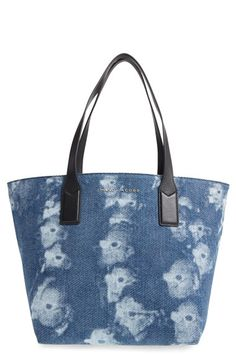 MARC BY MARC JACOBS Marc Jacobs '3D Denim Wingman' Shopper. #marcbymarcjacobs #bags #shoulder bags #hand bags #canvas #leather