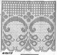 Diy Crafts - Kira scheme crochet: Scheme crochet no. Crochet Diy, Crochet Home, Thread Crochet, Lace Knitting, Vintage Crochet, Crochet Stitches, Filet Crochet Charts, Crochet Borders, Crochet Motif