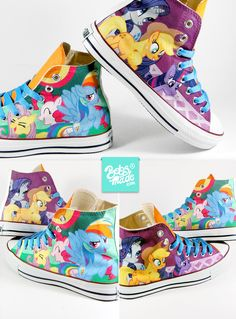 bda8816a2a0e9a Pony Chucks. Painted SneakersPainted Canvas ShoesHand Painted ShoesMy Little  ...