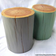 Big Logs!! Painted Chunky Log Side Table/Stool  choose your by thelogbasket, £109.00