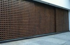 Corporate Interiors, House Design, Door Design, House Exterior, Garage Doors, Exterior Design, Entrance Gates, Modern Garage, Gate Design