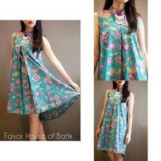 Ready green buterfly dress Size : M (Ld : 90) Color : Green Material : Batik Cap…