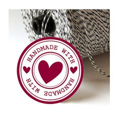INSTANT DOWNLOAD   Made with love tags 2 inches  5 cm by ByYolanda