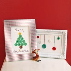 DIY Holiday Themed Framed Vintage Buttons - My So Called Crafty Life