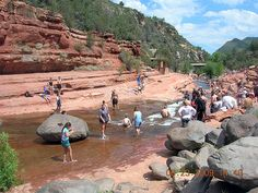 Slide Rock in Sedona, AZ.  My kids loved it here.  We spent many hours on the cliffs jumping...the kids not me.
