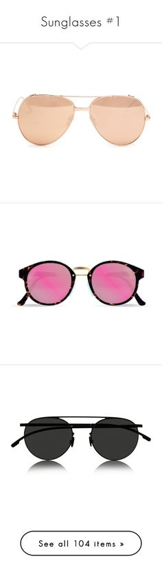 """""""Sunglasses #1"""" by legostep ❤ liked on Polyvore featuring sun, sunglasses, accessories, eyewear, glasses, rose gold, mirrored aviators, mirrored sunglasses, oversized sunglasses and oversized aviator sunglasses"""