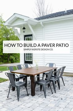 DIY Paver Patio | si
