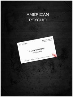 American Psycho Minimalist Movie Poster.
