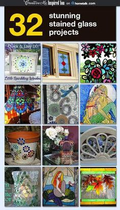 stained glass, round up, 32 projects.