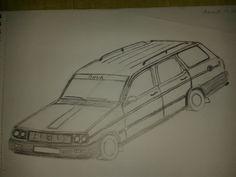 Gerçeğinin tıpatıp aynısı gibi görünen Renault 12 SW Toros... En güzel Toros çizimim... Bu aracın hayranıyım.
