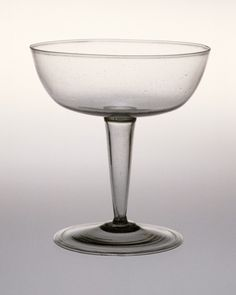 Drinking Glass Italy, Venice, circa 1550-1650 Furnishings; Serviceware Glass Height: 4 1/2 in. (11.5 cm); Diameter: 5 1/8 in. (13 cm)