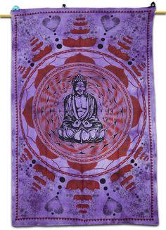 Buddha Tapestry Wall Hangings om buddha blue cotton mandala single bed sheet cover wall hanging