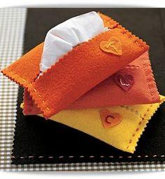 porta- pañuelos de fieltro