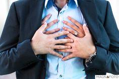 Brides hands rubbing against her future husbands chest feeling each heart beat  #weddingring #engagement #love