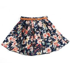 Floral Pattern Ruffle Chiffon Skirt ($5.55) ❤ liked on Polyvore featuring skirts, bottoms, newchic, flouncy skirt, frilly skirt, frill skirt, flower print skirt and pattern skirt