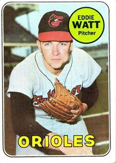 1969 Topps #652 Eddie Watt Front