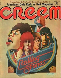 The Rolling Stones on the cover of a special issue of CREEM magazine 1973
