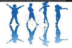 Vector Graphics Of Happy Children Silhouettes Atitude