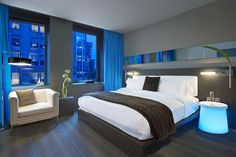 W Hotel Montreal - LED Lighting, Bright Baby Blue